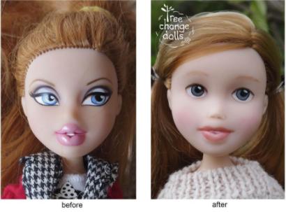 Avant-Apres Tree change dolls